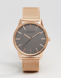 UNKNOWN Classic Mesh Watch In Rose Gold 39nn - Gold
