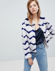 Unreal Fur Abracadabra Faux Fur Jacket - Grey