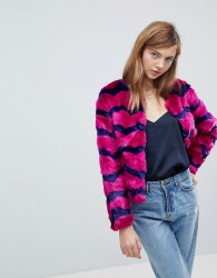 Unreal Fur Abracadabra Faux Fur Jacket - Purple