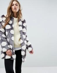 Unreal Fur Bubbles Coat - Multi
