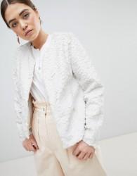 Unreal Fur Dream Faux Fur Collarless Jacket - Cream