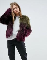 Unreal Fur Liquid Fudge Jacket - Multi