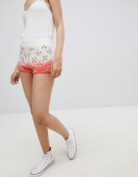 Urban Bliss Beaded Shorts - White