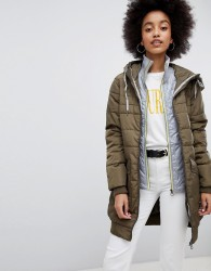 Urban Bliss Padded Regent Jacket - Brown