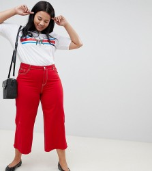 Urban Bliss Plus Cropped Flare - Red