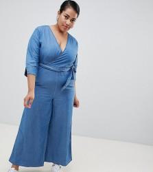 Urban Bliss Plus Wide Leg Jumpsuit - Blue