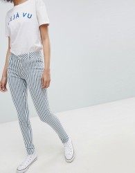 Urban Bliss Striped Skinny Jeans - Navy