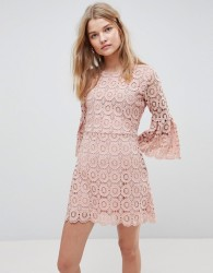Urban Bliss Winnie Crochet Dress - Pink