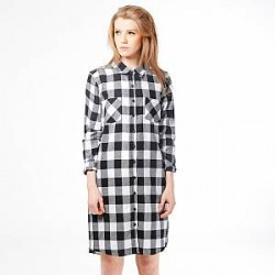 Urban Classics Kjole - Checked Flanell