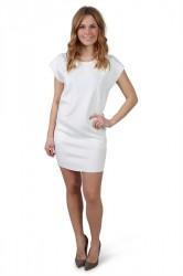 Urban Classics - Kjole - Ladies Scuba Dress - Offwhite