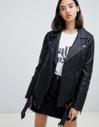 UrbanCode Briar twofer longline multiway biker jacket - Black