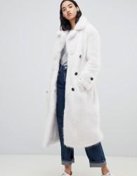 UrbanCode Fendora faux fur trench coat - White