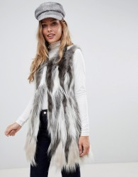 Urbancode gilet in stag faux fur - Cream
