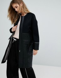 Urbancode Ivanna Quilted Coat - Black