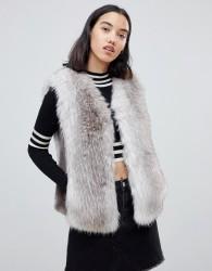 UrbanCode Jaycee faux fur luxury gilet - Brown
