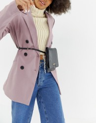 Urbancode leather 2 in 1 mini cross body bag & bumbag - Black