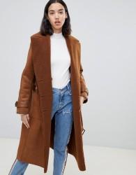 UrbanCode Rener reversible teddy duster coat - Tan
