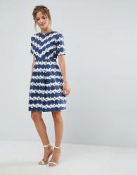 Uttam Boutique Daisy Skater Dress - Blue