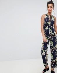 Uttam Boutique Floral Halter Neck Jumpsuit - Multi
