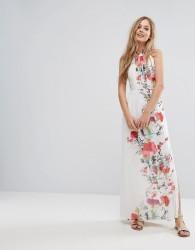 Uttam Boutique Floral Placement Print Maxi Dress - Multi