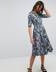 Uttam Boutique Flower Print Button Dress - Multi