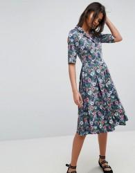 Uttam Boutique Flower Print Button Dress - Multi