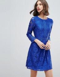 Uttam Boutique Lace Detail Skater Dress - Blue