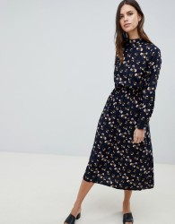 Uttam Boutique Long Sleeve Floral Maxi Dress - Navy