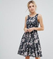 Uttam Boutique Petite Ditsy Print Floral Skater Dress - Black