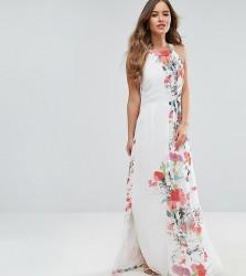 Uttam Boutique petite Floral Placement Print Maxi Dress - Multi