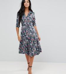 Uttam Boutique Petite Flower Print Button Dress - Multi