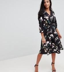 Uttam Boutique Petite Flower Print Wrap Dress - Multi