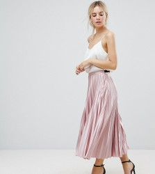 Uttam Boutique Petite Pleated Exclusive Skirt - Pink