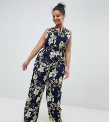 Uttam Boutique Plus Printed Jumpsuit - Multi