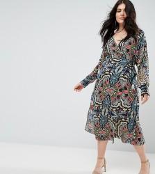 Uttam Boutique Plus Printed Wrap Dress - Multi