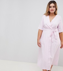 Uttam Boutique Plus Wrap Midi Dress - Pink