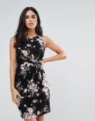 Uttam Boutique Printed Bodycon Dress - Black