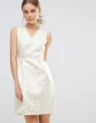 Uttam Boutique Puffball Jaquard Dress - Gold