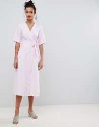 Uttam Boutique Wrap Midi Dress - Pink