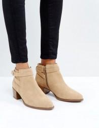 Vagabond Emira Beige Suede Ankle Boots - Beige