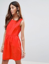 Valley Of The Dolls Santa Maria Dress With Lace Up Sides - Orange