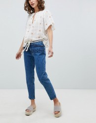 Vanessa Bruno Embroidered Cropped Jeans - Blue