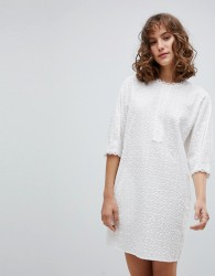 Vanessa Bruno Shift Dress in Broderie Anglaise - White