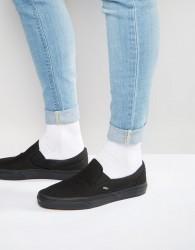 Vans Classic Slip-On Plimsolls In Black VEYEBKA - Black