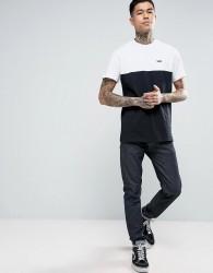 Vans Colour Block T-Shirt In Black VA3CZDYB2 - Black