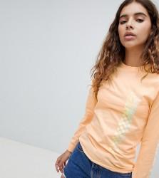Vans Exclusive Oversized Peach Circle V Long Sleeve T-Shirt - Orange
