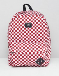 Vans Red Checkerboard Backpack - Red