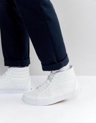 Vans Sk8-Hi Leather Trainers In White VA2XSBODJ - White