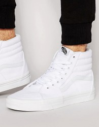 Vans Sk8-Hi Trainers In White VD5IW00 - White