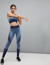 Varley Clara Legging In Blue Jacquard - Blue